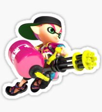 Splatoon 2 Pink Inkling Sticker