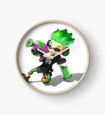 Splatoon 2 Green Inkling Clock