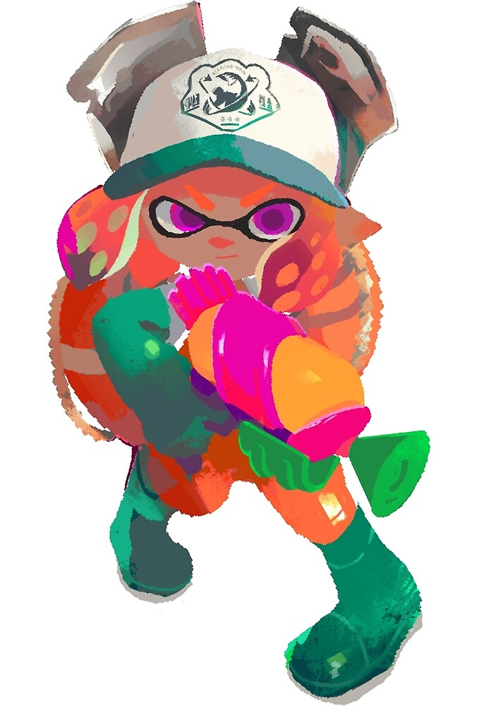 Splatoon 2 Salmon Run Inkling by overflag