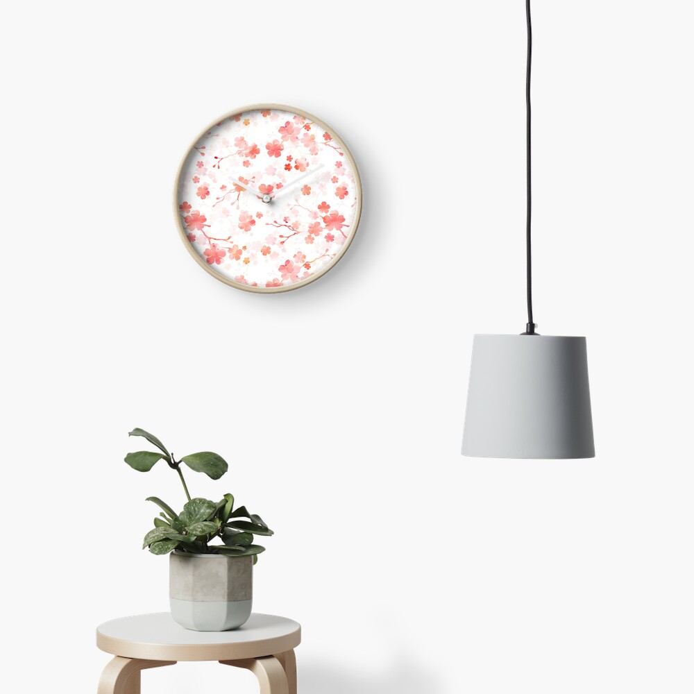 Cherry blossom in shades of pink Clock