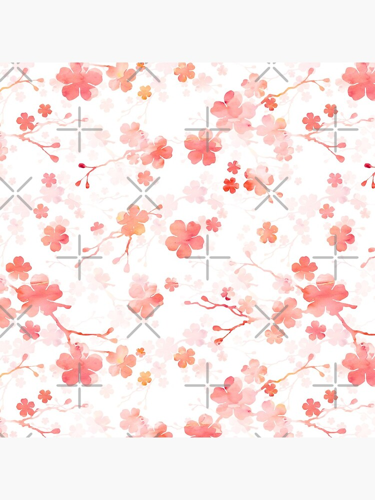 Cherry blossom in shades of pink by adenaJ