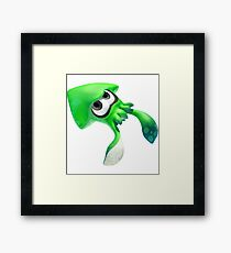 Splatoon 2 Green Squid Inkling Framed Print