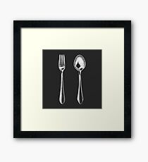 Fork and spoon Framed Print