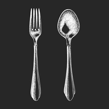 Fork and spoon by merydolla