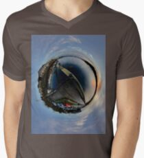 Foyle Marina at Dawn, Stereographic Men's V-Neck T-Shirt
