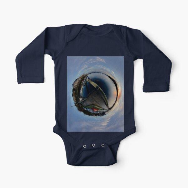 Foyle Marina at Dawn, Stereographic Long Sleeve Baby One-Piece