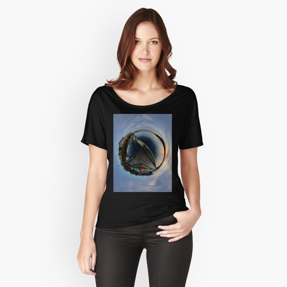 Foyle Marina at Dawn, Stereographic Relaxed Fit T-Shirt
