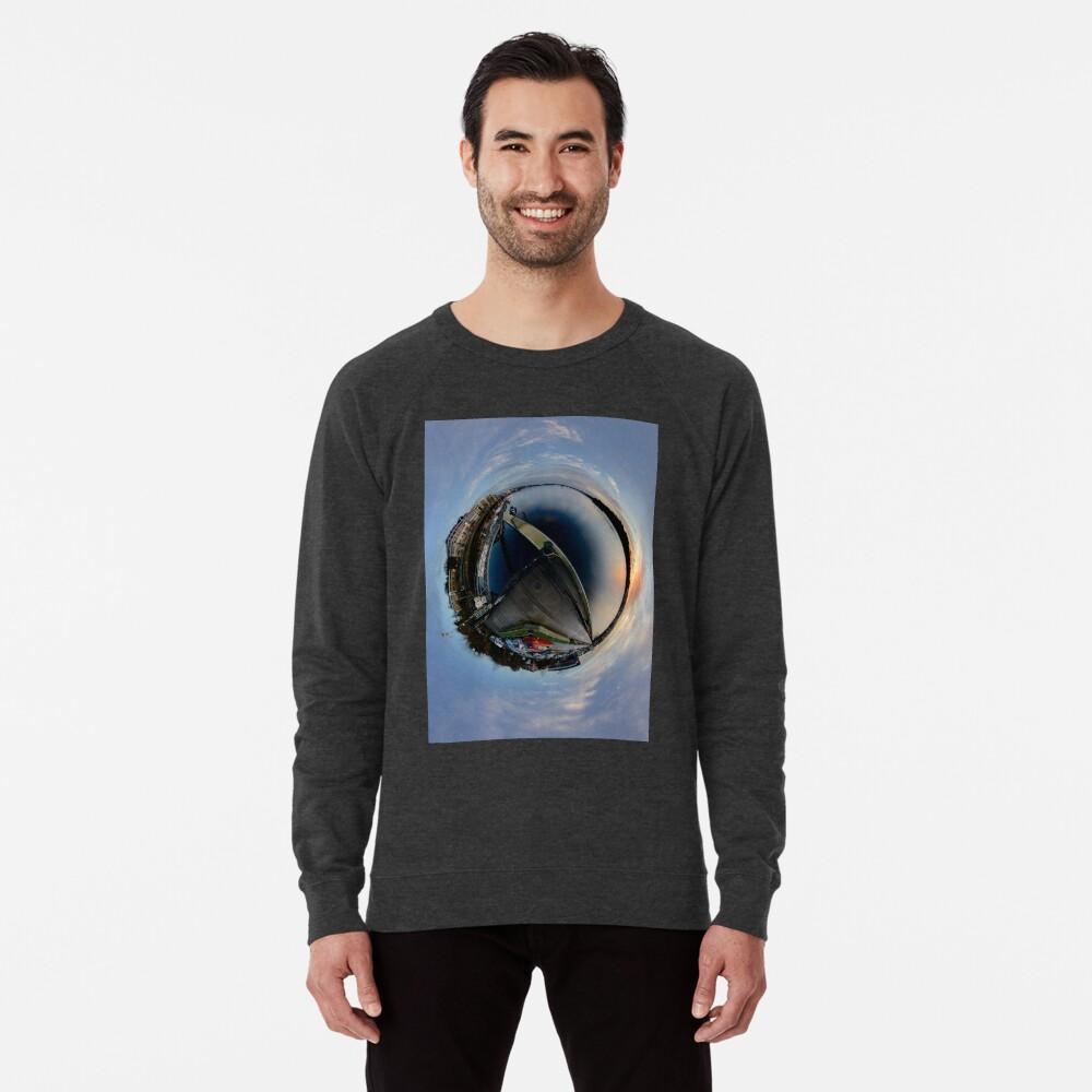 Foyle Marina at Dawn, Stereographic Lightweight Sweatshirt