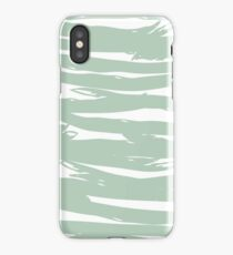 Abstract brush stroke pattern iPhone Case