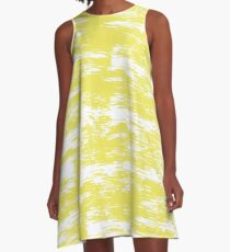 Abstract brush stroke pattern A-Line Dress