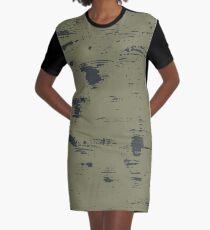 Grunge pattern Graphic T-Shirt Dress