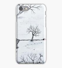 Twin Birch Fence Line iPhone Case/Skin