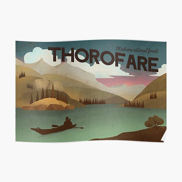 Thorofare travel porster Poster