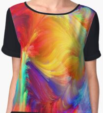 abstract painting Women's Chiffon Top