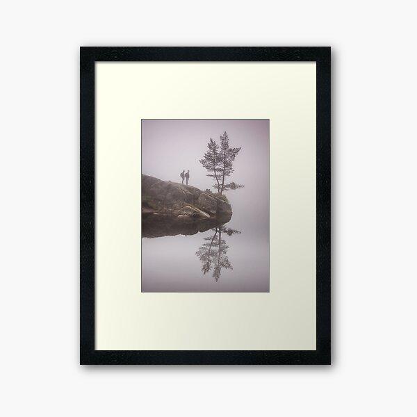 Norwegian reflection Framed Art Print