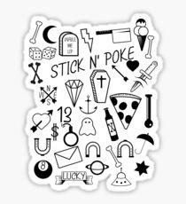 Stick and Poke Tattoo Sticker