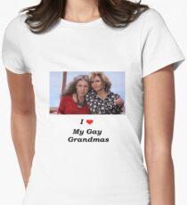 Ich liebe meine Gay Grandmas - Grace und Frankie Tailliertes T-Shirt für Frauen
