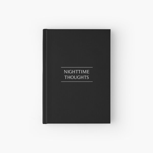 Nighttime Thoughts Journal Hardcover Journal