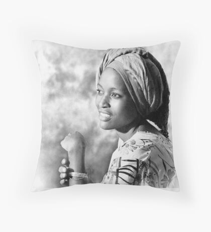 Pretty Woman Throw Pillow