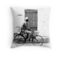 The streets of Zanzibar Throw Pillow