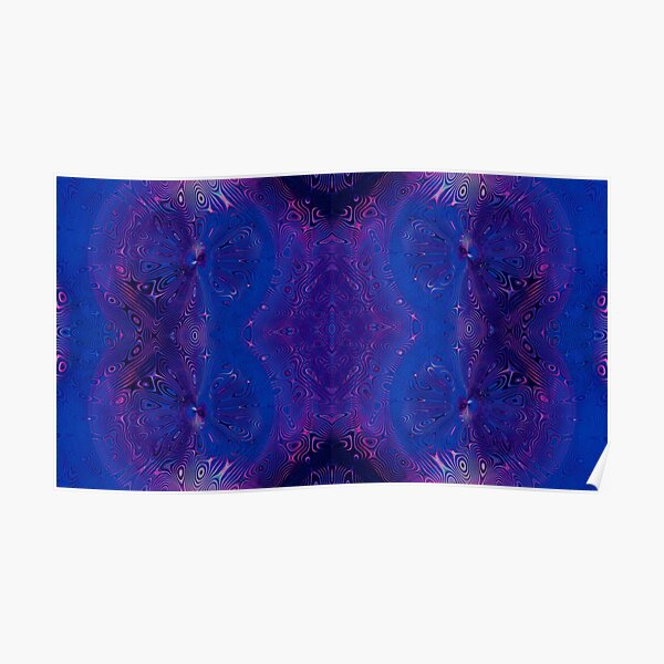 Dragonfly Midnight Swirls All Over Poster