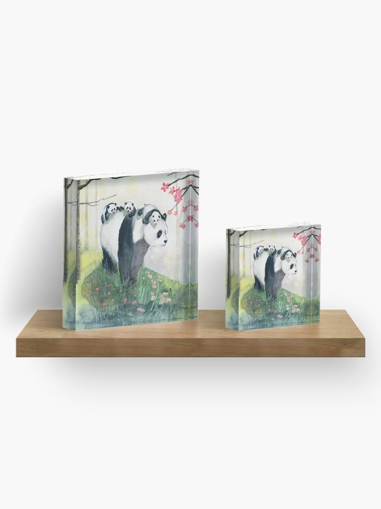 Alternate view of Panda Family Acrylic Block