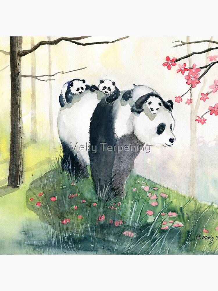 Panda Family by MellyTerp
