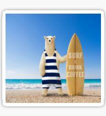 Surf & drink coffee Sticker