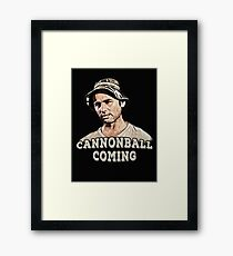 Cannonball coming Framed Print