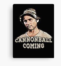 Cannonball coming Canvas Print