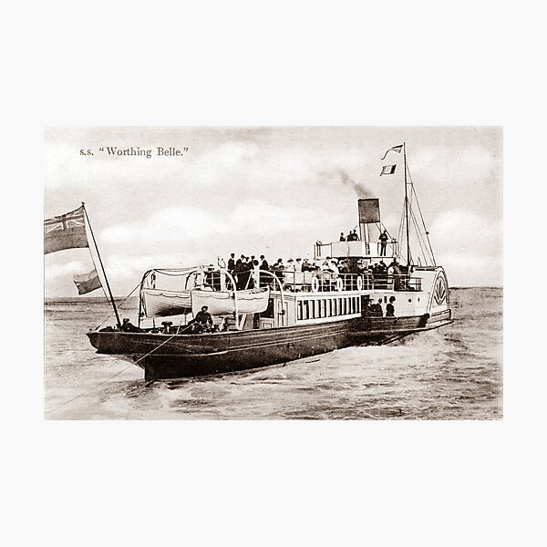 Ref: 76 - The Worthing Belle, Paddle Steamer. Photographic Print