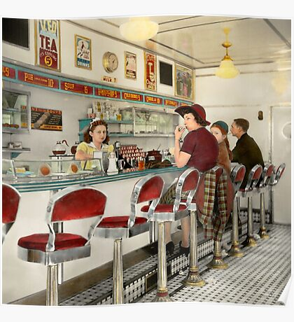 Cafe - The local hangout 1941 Poster