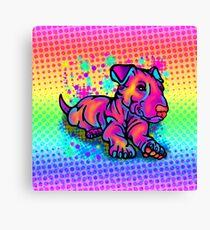 Colour Splashed Bull Terrier  Canvas Print