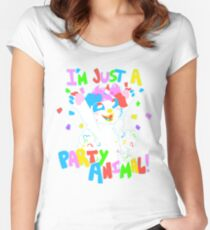 I'm Just a Party Animal! Women's Fitted Scoop T-Shirt