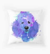 poodle watercolor pet portrait | Leia Throw Pillow