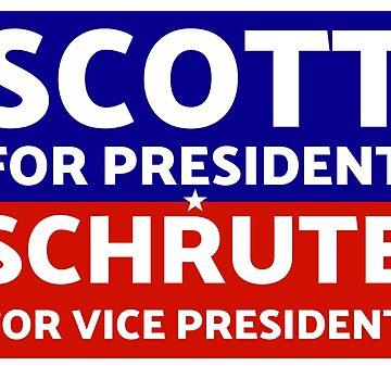 The Office - Michael Scott for President, Dwight Schrute for VP T-Shirt by sbaldesco