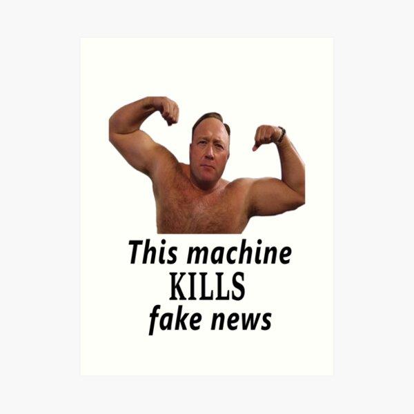 Alex Jones vs. Fake News Art Print