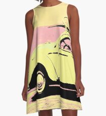 Surf bug popart poster A-Line Dress