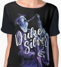 Duke Silver Chiffon Top