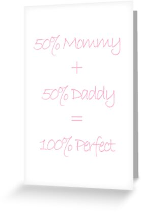 50 mommy 50 daddy 100 perfect pink girl baby shower adoption 50 mommy 50 daddy 100 perfect pink girl baby shower adoption by arcadetoystore m4hsunfo