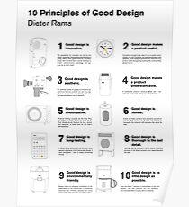 10 Principles of Good Design Poster