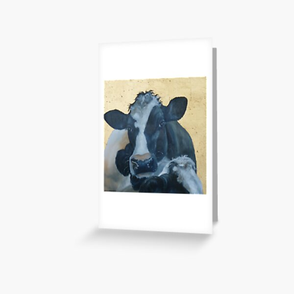 Lean on Me --- Cow Portraits Greeting Card
