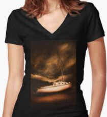 The shipwreck and the storm Women's Fitted V-Neck T-Shirt