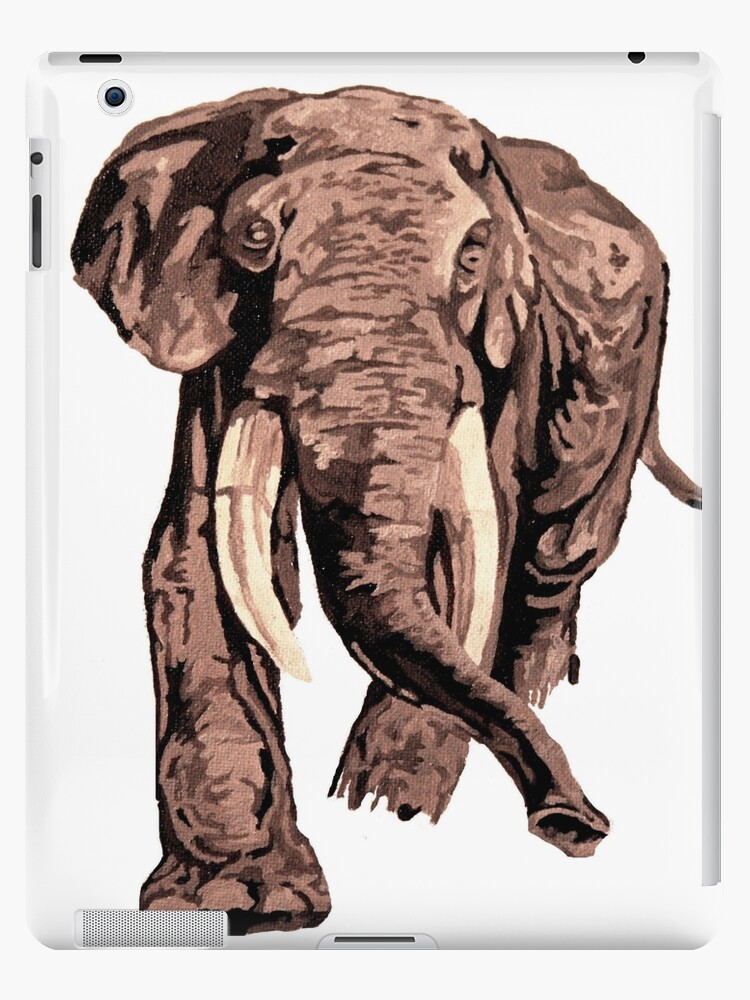 Realistic African Elephant In Brown Shades by taiche