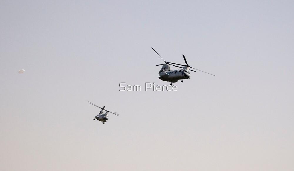 CH-46 Sea Knights in Iraq by Sam Pierce