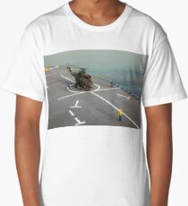 Eurocopter AS332 Super Puma Helicopter Long T-Shirt