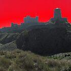 Bamburgh Castle & Windmill ( Red ) by wiggyofipswich