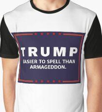 Anti-Trump Armageddon Dark Logo Graphic T-Shirt