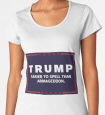 Anti-Trump Armageddon Dark Logo Women's Premium T-Shirt