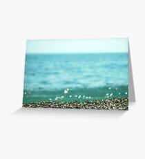 Sea coast, pebble stone Greeting Card